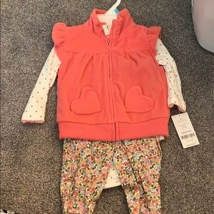 3 piece fleece vest carters outfit